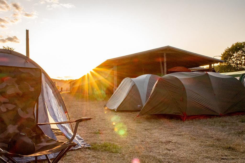 Sonnenschein auf dem CCCamp 2019