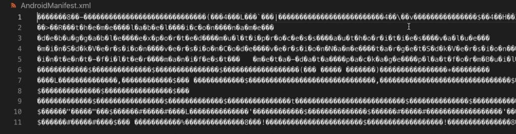 Kompilierte AndroidManifest.xml