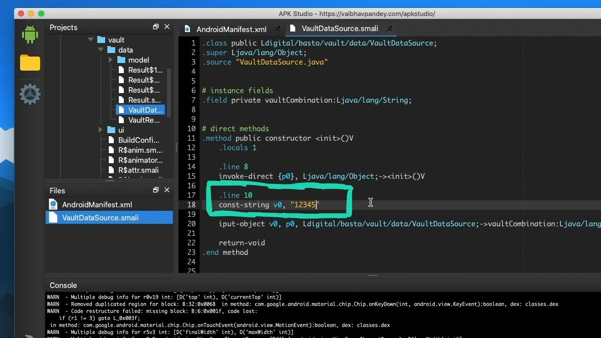 APK Studio: Code manipulieren